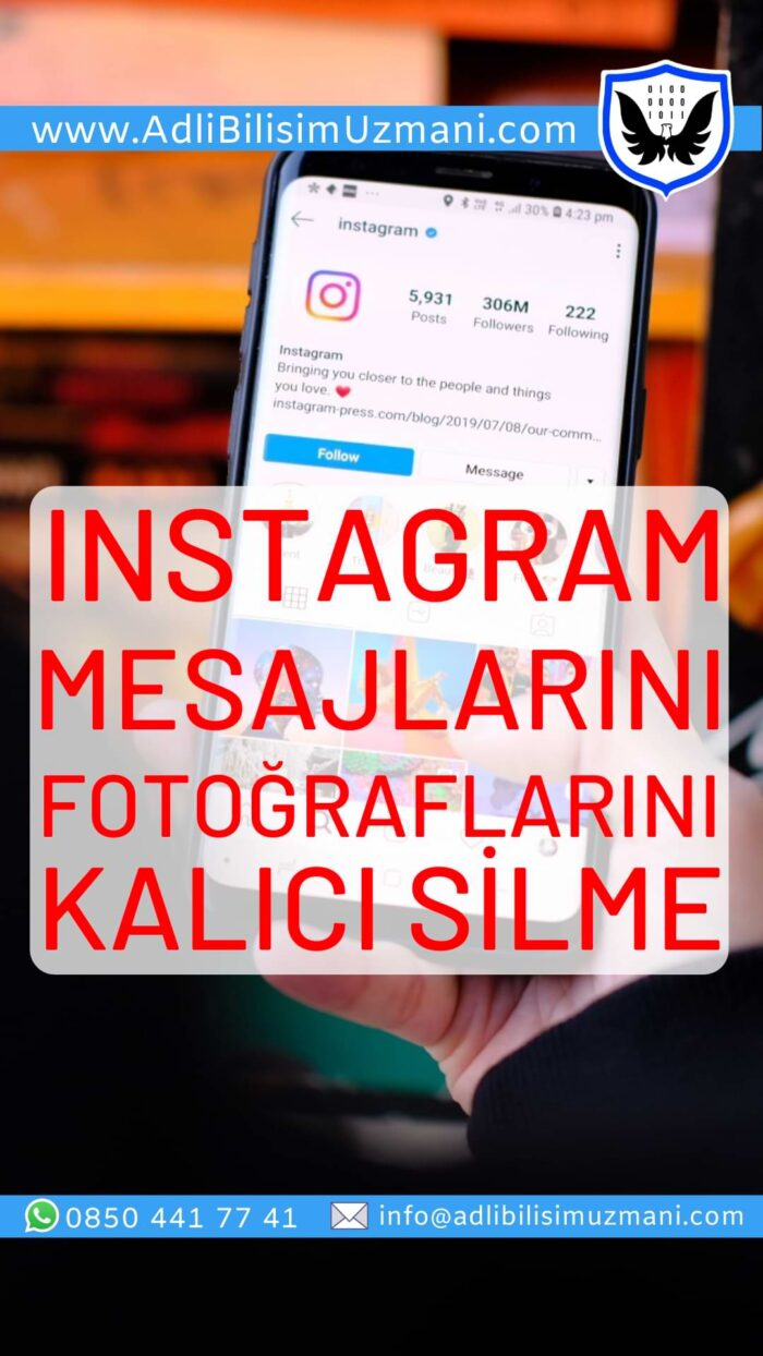 Instagram Kalıcı Silme iPhone