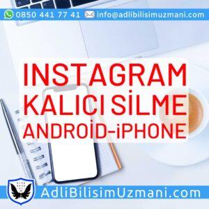 Instagram Tamamen Silme Android