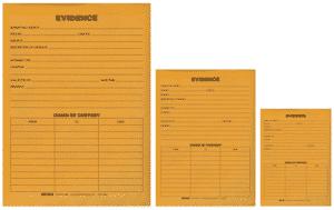 Üzerine delille ilgili bilgilerin yazılabileceği kağıt kaplanmış antistatik ve baloncuklu delil zarfları