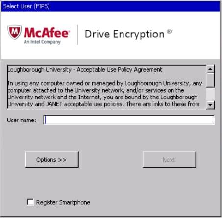 Mcafee Encryption Kurtarma