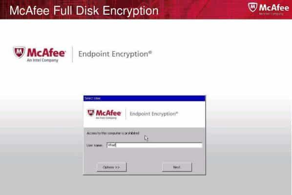 McAfee Entpoint Encryption Veri Kurtarma